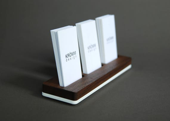 Wood business card stand multiple moo business card holder reheart Image collections