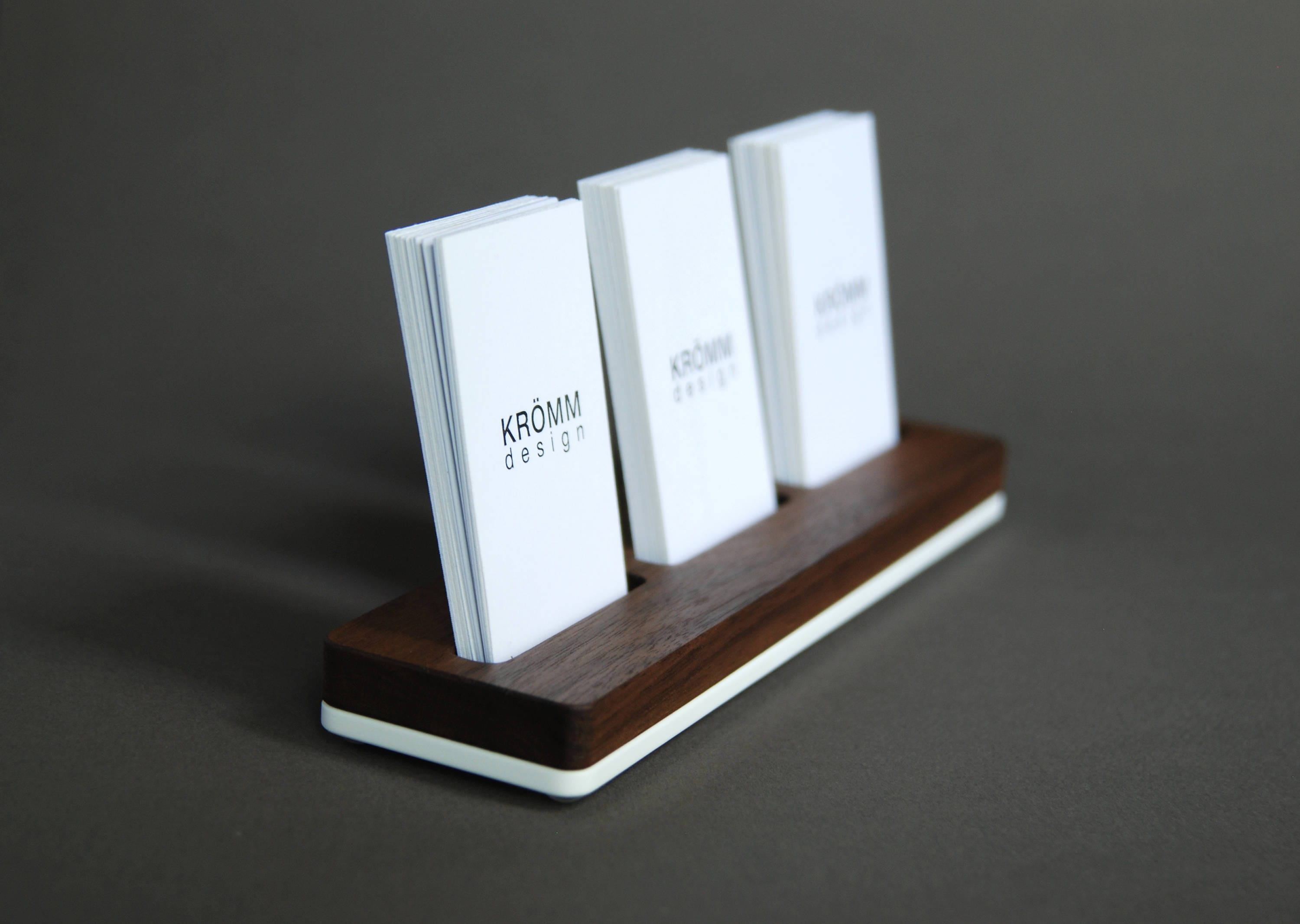 Wood Business Card Stand / Multiple MOO Business Card Holder /
