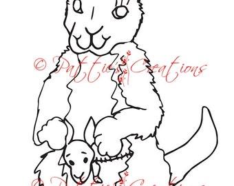 Canguro de Karrie & bebé Kora