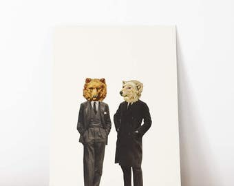 Original Artwork, Unique Collage, One of a Kind - The Likely Lads