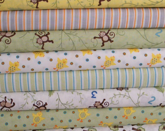SALE!! Grow With Me Fat Quarter Bundle - 10 Different Prints - Cotton Fabric - by Deb Strain for Moda (W261)