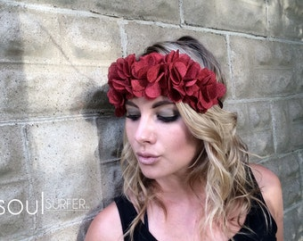 Fabric Flower Crown