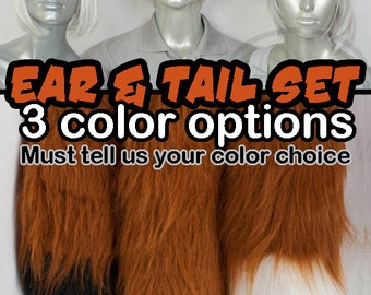 Rust Copper Furry Fox Tail and Ears, Cosplay, Accessories, Costume, Highly Customizable