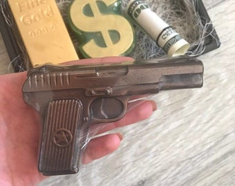 Gun Soap Set Handgun Soap  Gift for Him Pistol Soap Police Party Favors Cop Gift Police Officer Weapon Gifts For Men Gift For Dad