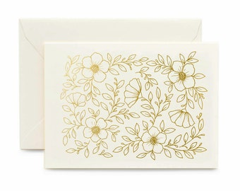 Confetti Greeting Card / Birthday Greeting Card / Gold foil Card / Letterpress Card / Real Gold foil
