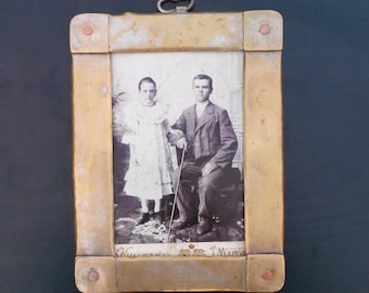Antique  Brass Frame  Steampunk photo frame Antique photo frame