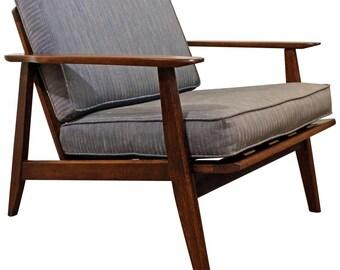 Mid-Century Danish Modern Walnut Lounge Chair