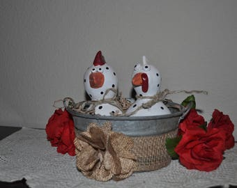 Two Chicks in a Tub