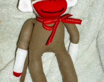 12 inch sock monkey for toddlers or children