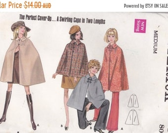 ON SALE 1970s Sewing Pattern - Butterick 5444 Cape in four lengths Size MEDIUM Uncut, Factory Folded