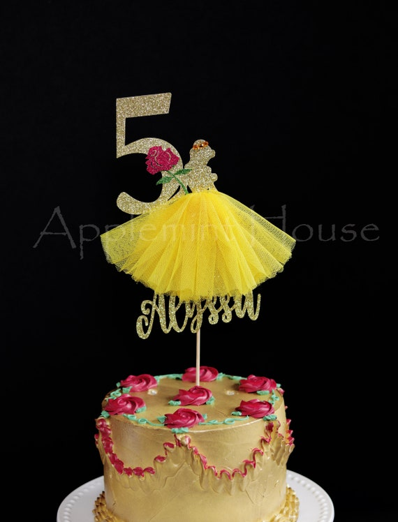 Beauty and the Beast birthday cake topperPrincess Belle Cake