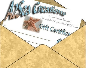 Gift Certificate - Last Minute Gift Idea