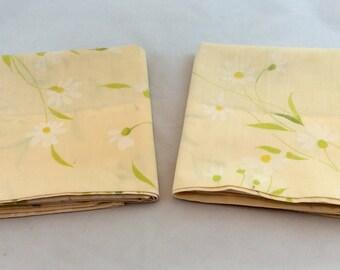 Vintage Pillowcases Pink Flowered/Pink Floral Pillowcase Pair