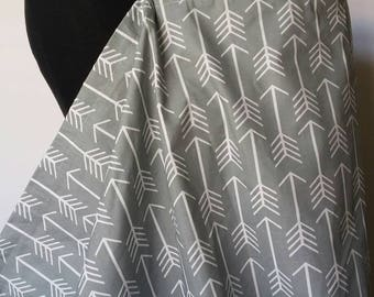 Nursing Cover, Breastfeeding Feeding Cover up, Nursing cover up, Gray Large Arrow Nursing cover