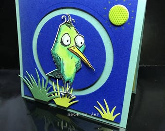 the surprised bird card!
