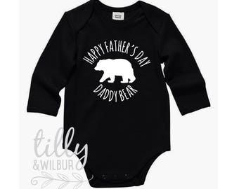 Happy Father's Day Daddy Bear Bodysuit For Baby Boys