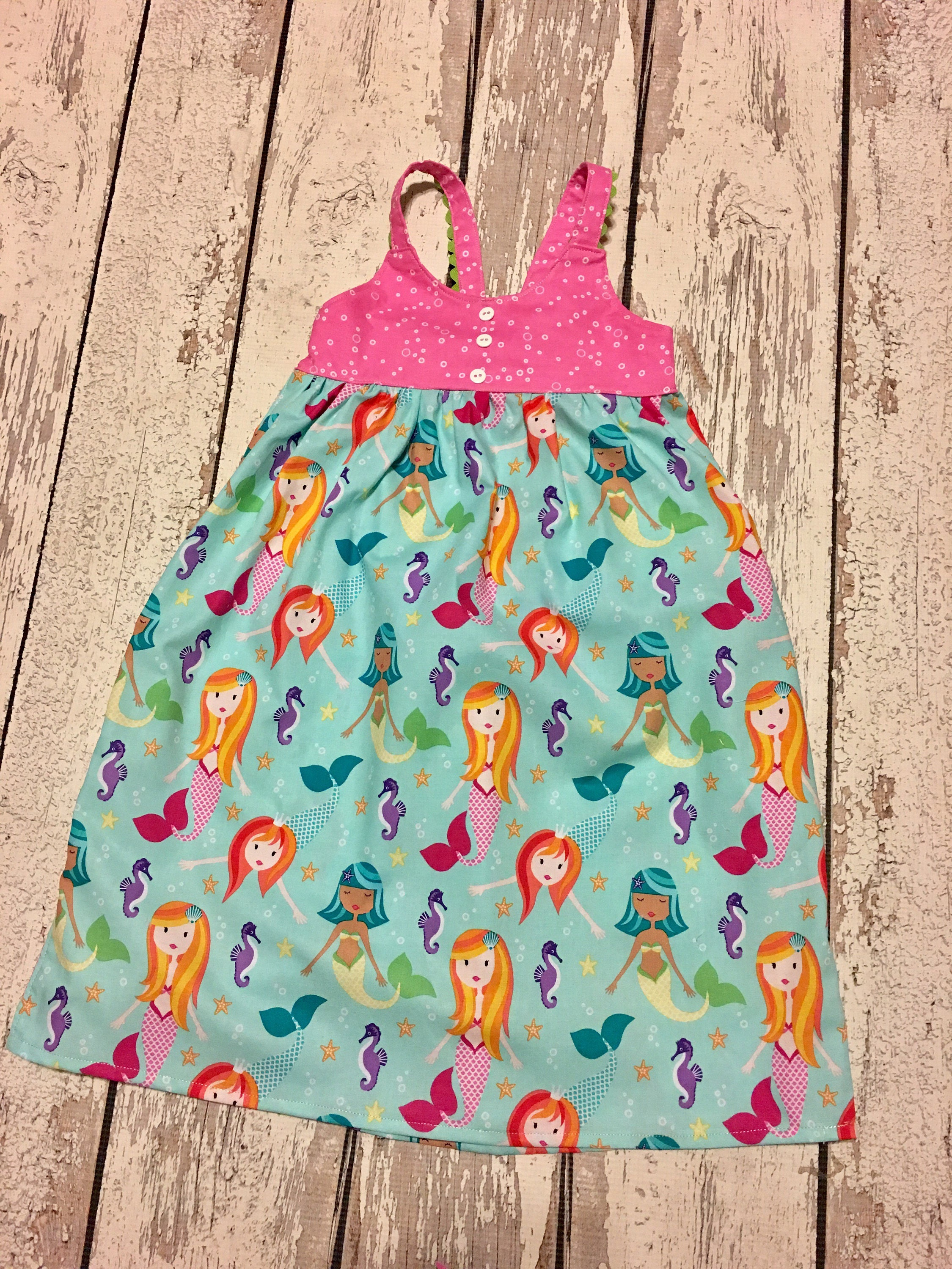 Mermaid dress Girls mermaid party Mermaid party dress Baby