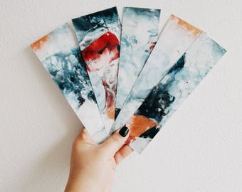 ABSTRACT BOOKMARKS - 5 pcs.