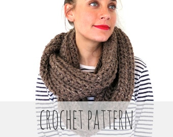 PATTERN for Chunky Soft Crochet Infinity Scarf, Cowl // Boundless Scarf PATTERN