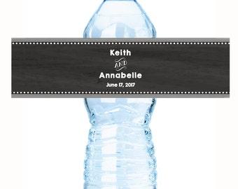 Personalized Chalk Wedding Water Bottle Labels - Chalkboard Wedding labels - Wedding Decor - Bridal Shower Labels - Bottle Labels
