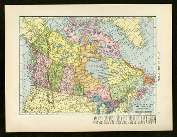 Vintage map canada from 1904 original gumiabroncs Images