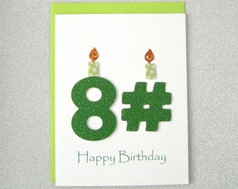 Happy Birthday Card - 81st, 82nd, 83rd, 84th, 85th, 86th, 87th, 88th, 89th Birthday