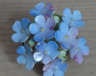 Forget me not China flower brooch