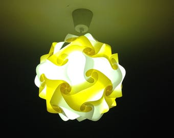 Light yellow and white lamp sphere puzzle
