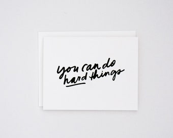 You Can Do Hard Things, Card for Mom, Motherhood, Mother's Day Card, Encouragement