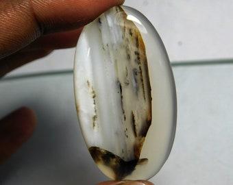Row Fine  -Montana agate cabochon  loose  gems  stone oval  shape-Montana agate top  quality handmade  cabochon size 56 ct 48x27x4 Sr -1512