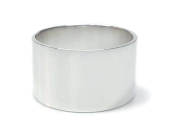 Wide Band Ring - Wide Silver Band - Wide Silver Ring - Minimalist Ring - Mod Ring - Smooth Ring - Hipster Ring - Band - Made In Brooklyn