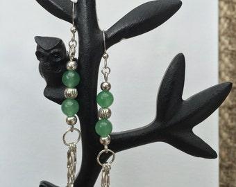 Green Aventurine bead Earrings