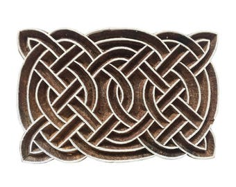 Rectangular Celtic Knot Stamp Print Stamp Textile Stamp Clay Stamp Pottery Stamp