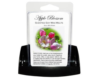 APPLE BLOSSOM Soy Melts // Wax Tarts // Soy Tarts // Candle Tarts // Melting Tarts // Scented Tarts // Dye Free