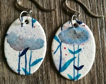 Watercolor Paintings Earrings