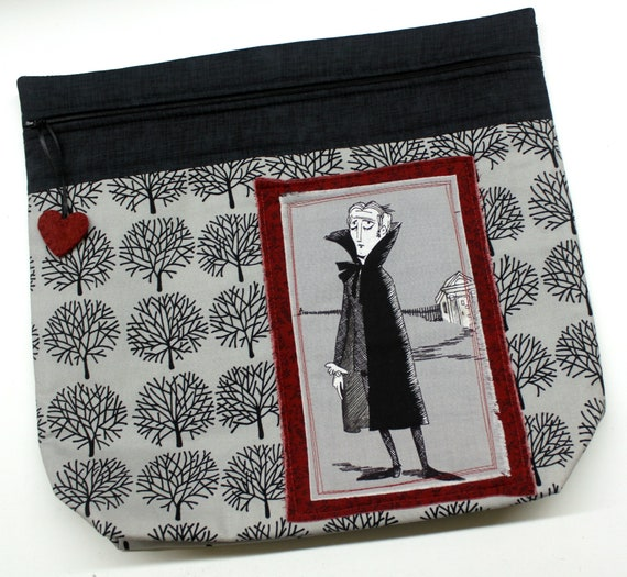 MORE2LUV Ghastlies Vampire Cross Stitch Embroidery Project Bag
