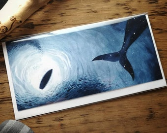 The Sky Whale underwater greetings card