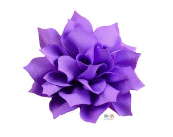 Purple DIY Satin Fabric flower Layered chiffon Flowers , Fabric Flower, Craft Supplies, DIY Flower, DIY supplies, Embellishment