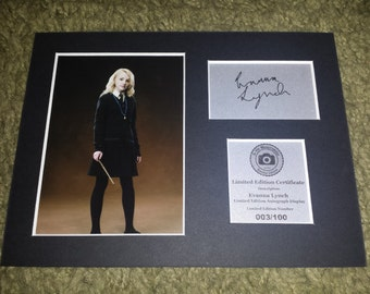 Evanna Lynch - Luna Lovegood - Harry Potter - Signed Autograph Display - Fully Mounted and Ready To Be Framed - V2