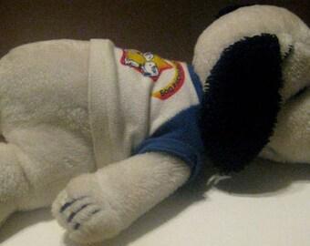 Vintage Sleeping Snoopy Stuffed Toy