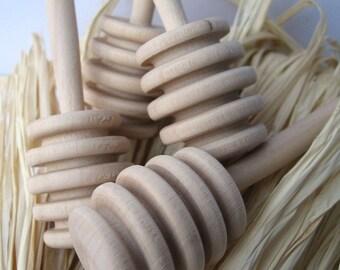 HONEY dipper SET of 130 - honey stirrer - 130 Natural Wood Honey Dippers