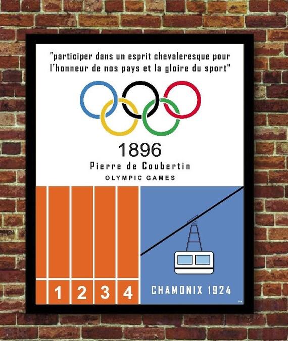 winter summer sport poster affiche vintage design decoration. Black Bedroom Furniture Sets. Home Design Ideas