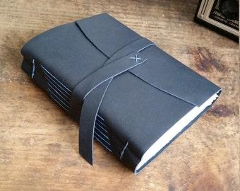 Handmade Leather Journal, Dark Gray 4.75 x 6 Journal by The Orange Windmill on Etsy 1789