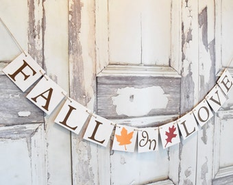 Fall in Love banner, fall bridal shower, fall banner, fall in love, fall wedding,Fall wedding, banners, Bridal shower decoration