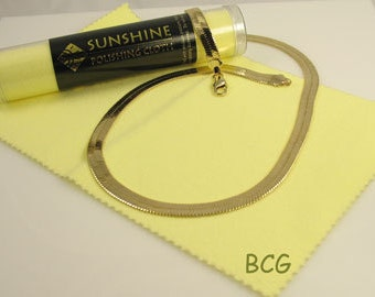 Sunshine Jewelry Polish Cloth, Jewelry Cleaner, Silver Cleaner, Silver Polish Cloth, Tarnish Remover