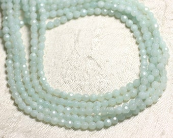 10pc - stone beads - Amazonite faceted balls 4mm - 4558550082268