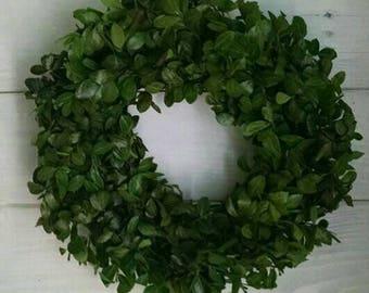 Real natural boxwood wreath~fresh boxwood wreath~pick your size boxwood wreath~farmhouse boxwood wreath~christmas wreath