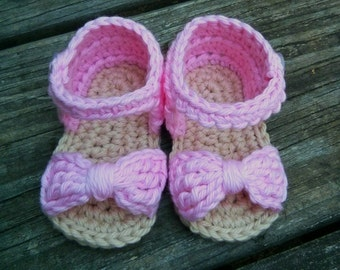 Baby Girl Bow Sandals 0-3 months