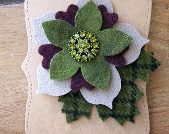 Handmade Re-Purposed Wool Brooch