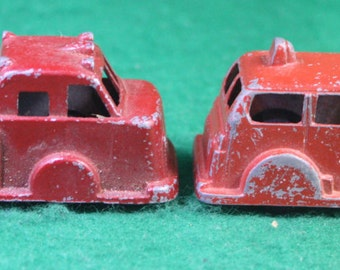Vintage Pair of Die Cast Toy Fire Trucks - Goodee and Midgetoy  Free Shipping Domestic USA